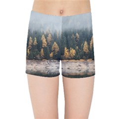 Trees Plants Nature Forests Lake Kids Sports Shorts