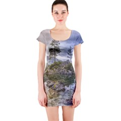 Hintersee Ramsau Berchtesgaden Short Sleeve Bodycon Dress