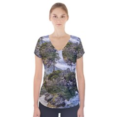 Hintersee Ramsau Berchtesgaden Short Sleeve Front Detail Top