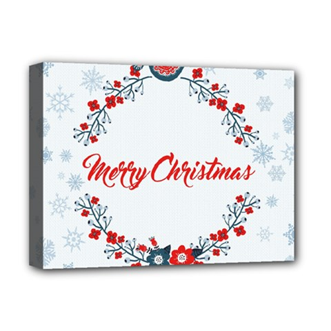 Merry Christmas Christmas Greeting Deluxe Canvas 16  X 12