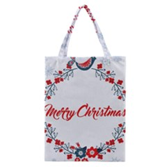 Merry Christmas Christmas Greeting Classic Tote Bag