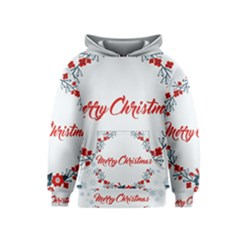 Merry Christmas Christmas Greeting Kids  Pullover Hoodie