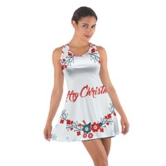 Merry Christmas Christmas Greeting Cotton Racerback Dress