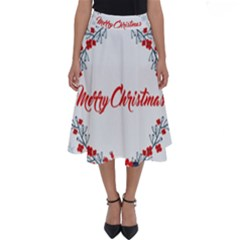 Merry Christmas Christmas Greeting Perfect Length Midi Skirt