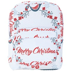 Merry Christmas Christmas Greeting Full Print Backpack by BangZart