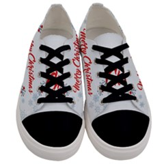 Merry Christmas Christmas Greeting Men s Low Top Canvas Sneakers