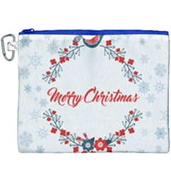 Merry Christmas Christmas Greeting Canvas Cosmetic Bag (xxxl) by BangZart