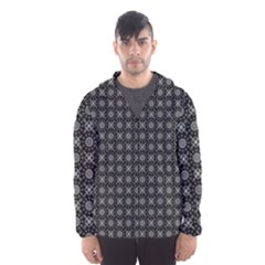Kaleidoscope Seamless Pattern Hooded Wind Breaker (men)