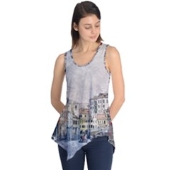 Venice Small Town Watercolor Sleeveless Tunic by BangZart