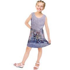 Venice Small Town Watercolor Kids  Tunic Dress