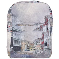 Venice Small Town Watercolor Full Print Backpack