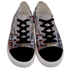 Venice Small Town Watercolor Men s Low Top Canvas Sneakers