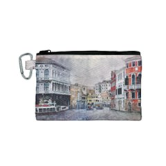 Venice Small Town Watercolor Canvas Cosmetic Bag (small) by BangZart