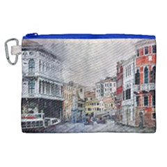 Venice Small Town Watercolor Canvas Cosmetic Bag (xl) by BangZart