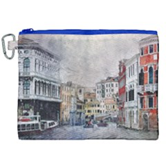 Venice Small Town Watercolor Canvas Cosmetic Bag (xxl) by BangZart
