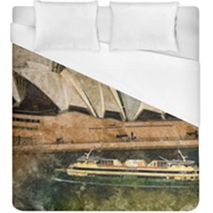 Sydney The Opera House Watercolor Duvet Cover (king Size)