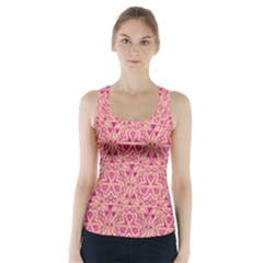 Tribal Pattern Hand Drawing Racer Back Sports Top