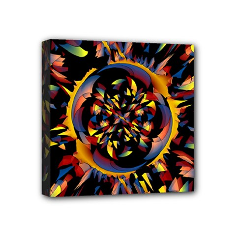 Spiky Abstract Mini Canvas 4  X 4  by linceazul