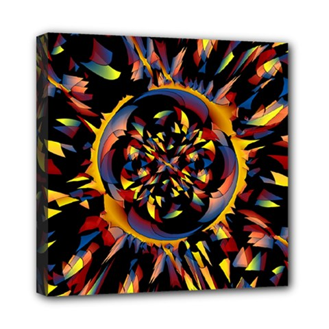 Spiky Abstract Mini Canvas 8  X 8  by linceazul