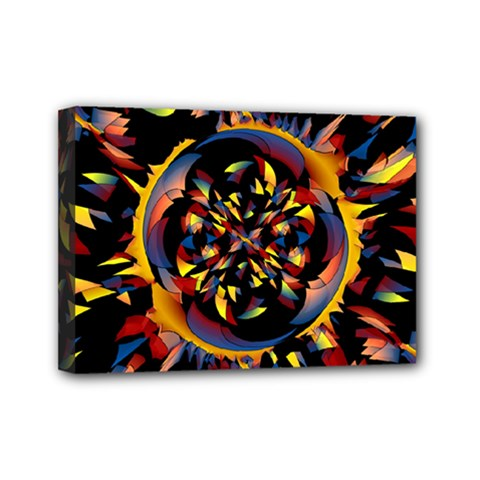 Spiky Abstract Mini Canvas 7  X 5  by linceazul