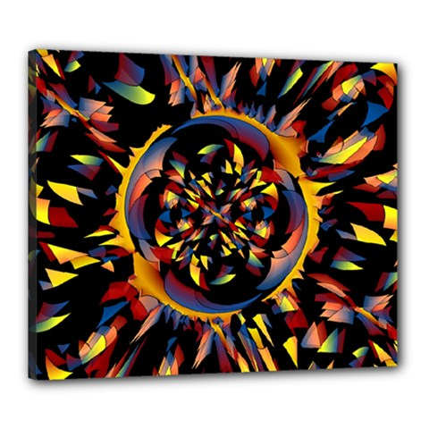 Spiky Abstract Canvas 24  X 20  by linceazul