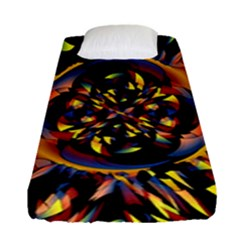 Spiky Abstract Fitted Sheet (single Size) by linceazul