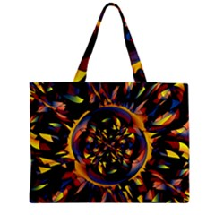 Spiky Abstract Medium Tote Bag by linceazul
