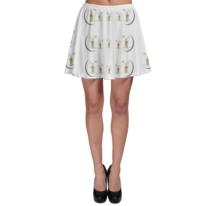 Angels Under The  Sun And Peace Doves Skater Skirt