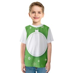 Christmas Bauble Ball Kids  Sport Mesh Tee