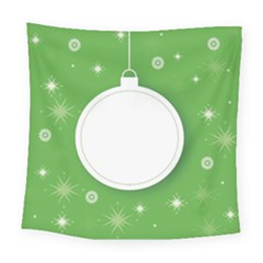 Christmas Bauble Ball Square Tapestry (large)