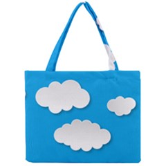 Clouds Sky Background Comic Mini Tote Bag