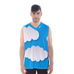 Clouds Sky Background Comic Men s Basketball Tank Top
