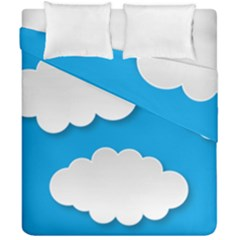 Clouds Sky Background Comic Duvet Cover Double Side (california King Size)