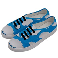 Clouds Sky Background Comic Men s Classic Low Top Sneakers by BangZart