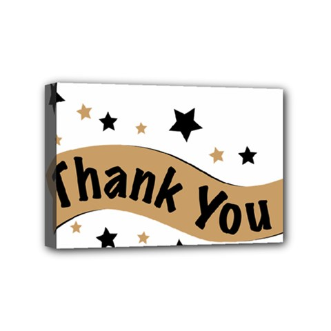 Thank You Lettering Thank You Ornament Banner Mini Canvas 6  X 4  by BangZart