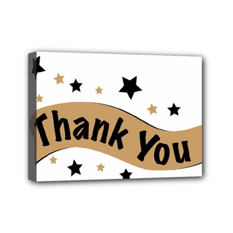 Thank You Lettering Thank You Ornament Banner Mini Canvas 7  X 5  by BangZart