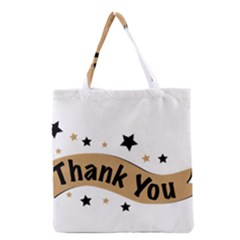 Thank You Lettering Thank You Ornament Banner Grocery Tote Bag