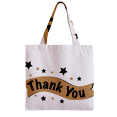 Thank You Lettering Thank You Ornament Banner Zipper Grocery Tote Bag