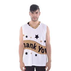 Thank You Lettering Thank You Ornament Banner Men s Basketball Tank Top by BangZart