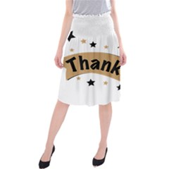 Thank You Lettering Thank You Ornament Banner Midi Beach Skirt