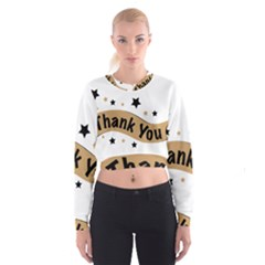 Thank You Lettering Thank You Ornament Banner Cropped Sweatshirt