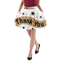 Thank You Lettering Thank You Ornament Banner A Line Pocket Skirt