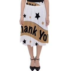 Thank You Lettering Thank You Ornament Banner Folding Skater Skirt by BangZart