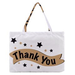 Thank You Lettering Thank You Ornament Banner Zipper Medium Tote Bag