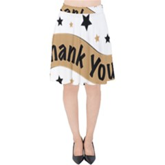 Thank You Lettering Thank You Ornament Banner Velvet High Waist Skirt