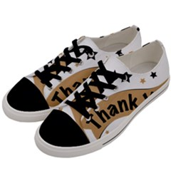 Thank You Lettering Thank You Ornament Banner Men s Low Top Canvas Sneakers by BangZart