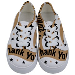 Thank You Lettering Thank You Ornament Banner Kids  Classic Low Top Sneakers