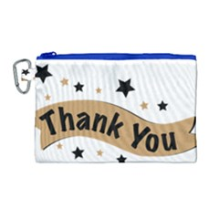 Thank You Lettering Thank You Ornament Banner Canvas Cosmetic Bag (large) by BangZart