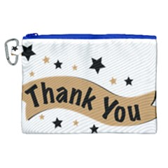 Thank You Lettering Thank You Ornament Banner Canvas Cosmetic Bag (xl) by BangZart