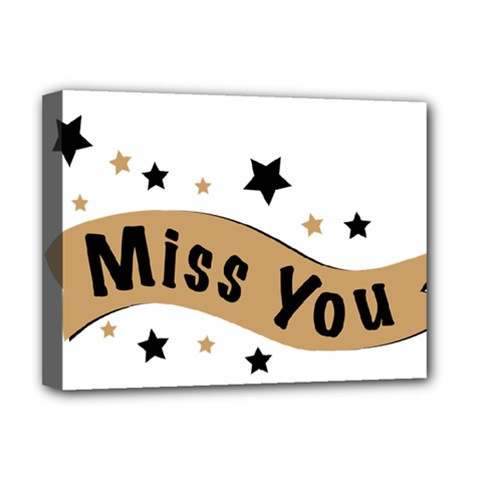 Lettering Miss You Banner Deluxe Canvas 16  X 12